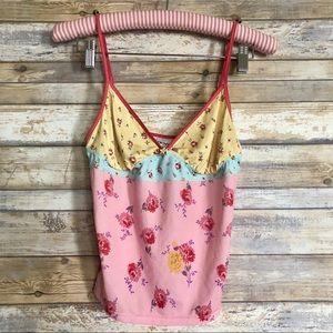 DKNY Floral Camisole Tank Top Nightie Sleep Shirt